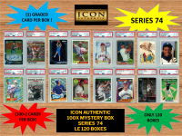 ICON AUTHENTIC  100X MYSTERY BOX SERIES 74 100+ Cards per Box at PristineAuction.com