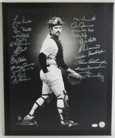 1978 Yankees 16x20 Canvas Team-Signed by (21) with Reggie Jackson, Goose Gossage, Willie Randolph, Roy White, Ron Davis (JSA COA) at PristineAuction.com