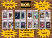ICON AUTHENTIC  400X MYSTERY BOX SERIES 9 - (400+ Cards per Box) at PristineAuction.com