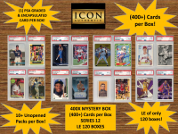 ICON AUTHENTIC  400X MYSTERY BOX SERIES 12 - (400+ Cards per Box) at PristineAuction.com