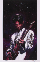 Prince - Joshua Barton 12x18 Signed Limited Edition Lithograph #/250 (PA COA) at PristineAuction.com