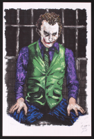 The Joker - Heath Ledger - Joshua Barton 12x18 Signed Limited Edition Lithograph #/250 (PA COA) at PristineAuction.com