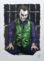 The Joker - Heath Ledger - Joshua Barton 12x18 Signed Limited Edition Lithograph #/250 (PA COA) at PristineAuction.com