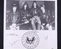 The Ramones 23x29 Poster Signed By (4) With Joey Ramone, Marky Ramone, C. J. Ramone, & Johnny Ramone (Beckett LOA) at PristineAuction.com