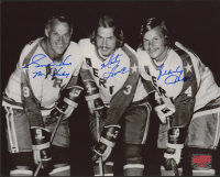 "Gordie Howe, Marty Howe & Mark Howe Signed Aeros 8x10 Photo Inscribed ""Mr. Hockey"" (Your Sports Memorabilia Store COA) at PristineAuction.com"