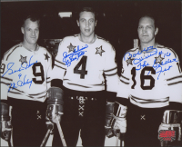 """Gordie Howe, Jean Beliveau & Bobby Hull Signed NHL All-Star Game 8x10 Photo Inscribed """"Mr. Hockey"""" & """"Le Gros Bill"""" & """"The Golden Jet"""" (Your Sports Memorabilia Store COA) at PristineAuction.com"""