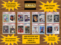 ICON AUTHENTIC  400X MYSTERY BOX SERIES 11 - (400+ Cards per Box) at PristineAuction.com