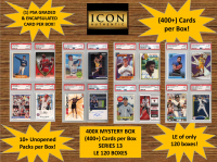 ICON AUTHENTIC  400X MYSTERY BOX SERIES 13 - (400+ Cards per Box) at PristineAuction.com