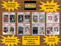 ICON AUTHENTIC  400X MYSTERY BOX SERIES 14 - (400+ Cards per Box) at PristineAuction.com