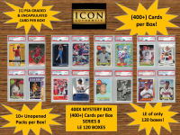 ICON AUTHENTIC  400X MYSTERY BOX SERIES 8 - (400+ Cards per Box) at PristineAuction.com