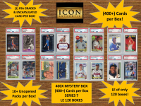 ICON AUTHENTIC  400X MYSTERY BOX SERIES 7 - (400+ Cards per Box) at PristineAuction.com