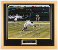 Roger Federer Signed LE 22x26 Custom Framed Photo Display (Steiner COA) at PristineAuction.com