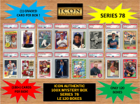 ICON AUTHENTIC  100X MYSTERY BOX SERIES 78 100+ CARDS PER BOX at PristineAuction.com