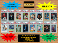 ICON AUTHENTIC  100X MYSTERY BOX SERIES 79 100+ Cards per Box at PristineAuction.com
