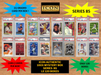 ICON AUTHENTIC  100X MYSTERY BOX SERIES 85 100+ Cards per Box at PristineAuction.com
