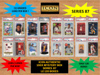 ICON AUTHENTIC  100X MYSTERY BOX SERIES 87 100+ Cards per Box at PristineAuction.com