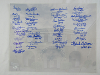 MLB Hall of Famers 16x20 Photo Signed by (36) with Hank Aaron, Ozzie Smith, Steve Carlton, Gary Carter, Mike Schmidt, Roberto Alomar, Ralph Kiner (JSA LOA) at PristineAuction.com