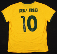"Ronaldinho Signed Brazil Jersey Inscribed ""Rio"" (Beckett COA) at PristineAuction.com"