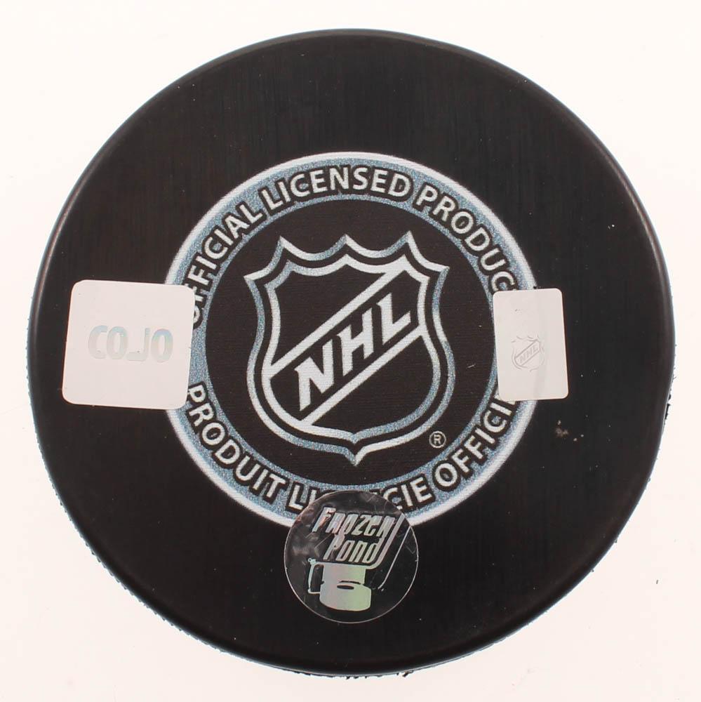 Willie O'Ree Signed Bruins Logo Hockey Puck (COJO COA ...