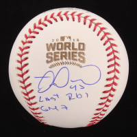 "Miguel Montero Signed 2016 World Series Baseball Inscribed ""Last RBI Game 7"" (Beckett COA) at PristineAuction.com"