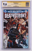 "Carlo Pagulayan & Christopher Priest Signed 2016 ""Deathstroke"" Issue #1 DC Comic Book (CGC Encapsulated - Graded 9.6) at PristineAuction.com"