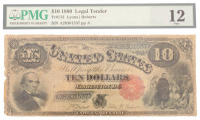 1880 $10 Ten Dollars Legal Tender Large Bank Note Bill (PMG 12) at PristineAuction.com