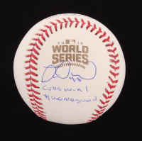 """Miguel Montero Signed 2016 World Series Baseball Inscribed """"Cubs Win! #WeAreGood"""" (Beckett COA) at PristineAuction.com"""