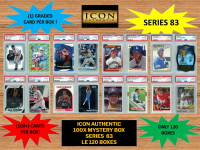 ICON AUTHENTIC  100X MYSTERY BOX SERIES 83 100+ Cards per Box at PristineAuction.com