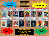 ICON AUTHENTIC  100X MYSTERY BOX SERIES 77 100+ Cards per Box at PristineAuction.com