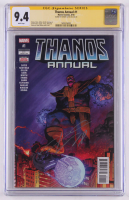 "Donny Cates Signed 2018 ""Thanos Annual"" Issue #1 Marvel Comic Book (CGC Encapsulated - Graded 9.4) at PristineAuction.com"