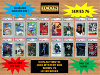 ICON AUTHENTIC  100X MYSTERY BOX SERIES 76 100+ Cards per Box at PristineAuction.com