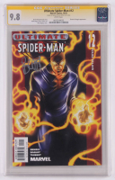 "Brian Michael Bendis Signed 2001 ""Ultimate Spider-Man"" Issue #12 Marvel Comic Book (CGC Encpasulated - Graded 9.8) at PristineAuction.com"
