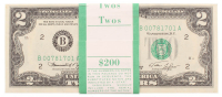Lot of (100) 1976 $2 Two Dollar U.S. Bank Note Bills with Consecutive Serial Numbers at PristineAuction.com