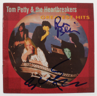 """Ron Blair & Benmont Tench Signed Tom Petty & the Heartbreakers """"Greatest Hits"""" CD Album Cover (Beckett COA) at PristineAuction.com"""