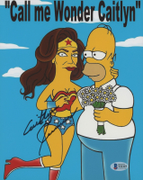 "Caitlyn Jenner Signed ""The Simpsons"" 8x10 Photo (Beckett COA) at PristineAuction.com"