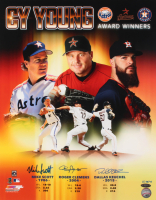 "Mike Scott, Roger Clemens & Dallas Keuchel Signed LE Astros ""Cy Young Award Winners"" 16x20 Photo (TriStar Hologram) at PristineAuction.com"