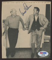 Arnold Palmer Signed 5x5 Cut (PSA COA) at PristineAuction.com