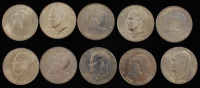 """Lot of (10) 1976 Bicentennial Eisenhower """"Ike""""  $1 Dollar Coins at PristineAuction.com"""