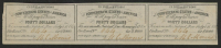 Uncut Sheet of (3) 1861 $40 Forty Dollar Confederate States of America CSA Bank Note Bonds at PristineAuction.com