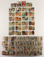 1956 Topps Complete Set of (340)  Baseball Cards with #5 Ted Williams, #31 Hank Aaron, #135 Mickey Mantle, #33 Roberto Clemente at PristineAuction.com