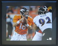 "Peyton Manning Signed Broncos 16x20 LE Photo Inscribed ""NFL Record 7 TDs vs. Balt 9-5-13"" (Steiner COA) at PristineAuction.com"