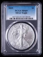 2019 American Silver Eagle $1 One Dollar Coin (PCGS MS69) at PristineAuction.com