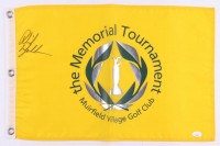 Phil Mickelson Signed Muirfield Village Memorial Tournament Golf Pin Flag (JSA COA) at PristineAuction.com