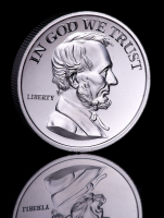 2 oz Abraham Lincoln High Relief Silver Bullion Round at PristineAuction.com
