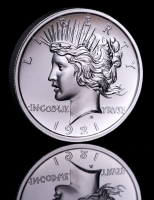 2 oz Peace Dollar High Relief Silver Bullion Round at PristineAuction.com