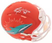 Ricky Williams Signed Dolphins AMP Alternate Speed Mini Helmet (Schwartz COA) at PristineAuction.com