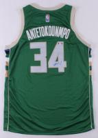 Giannis Antetokounmpo Signed Bucks Jersey (PSA Hologram) at PristineAuction.com