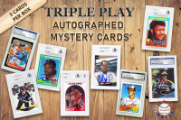 Schwartz Sports - Triple Play Legends Autographed Sports Card Mystery Box - Series 3 (3 Signed Encapsulated Cards In Every Box!!) at PristineAuction.com