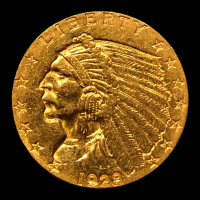 1928 $2.50 Indian Head Quarter Eagle Gold Coin at PristineAuction.com