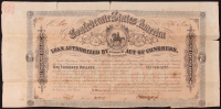 1864 Confederate States of America $1000 One Thousand Dollar Bank Loan Note at PristineAuction.com
